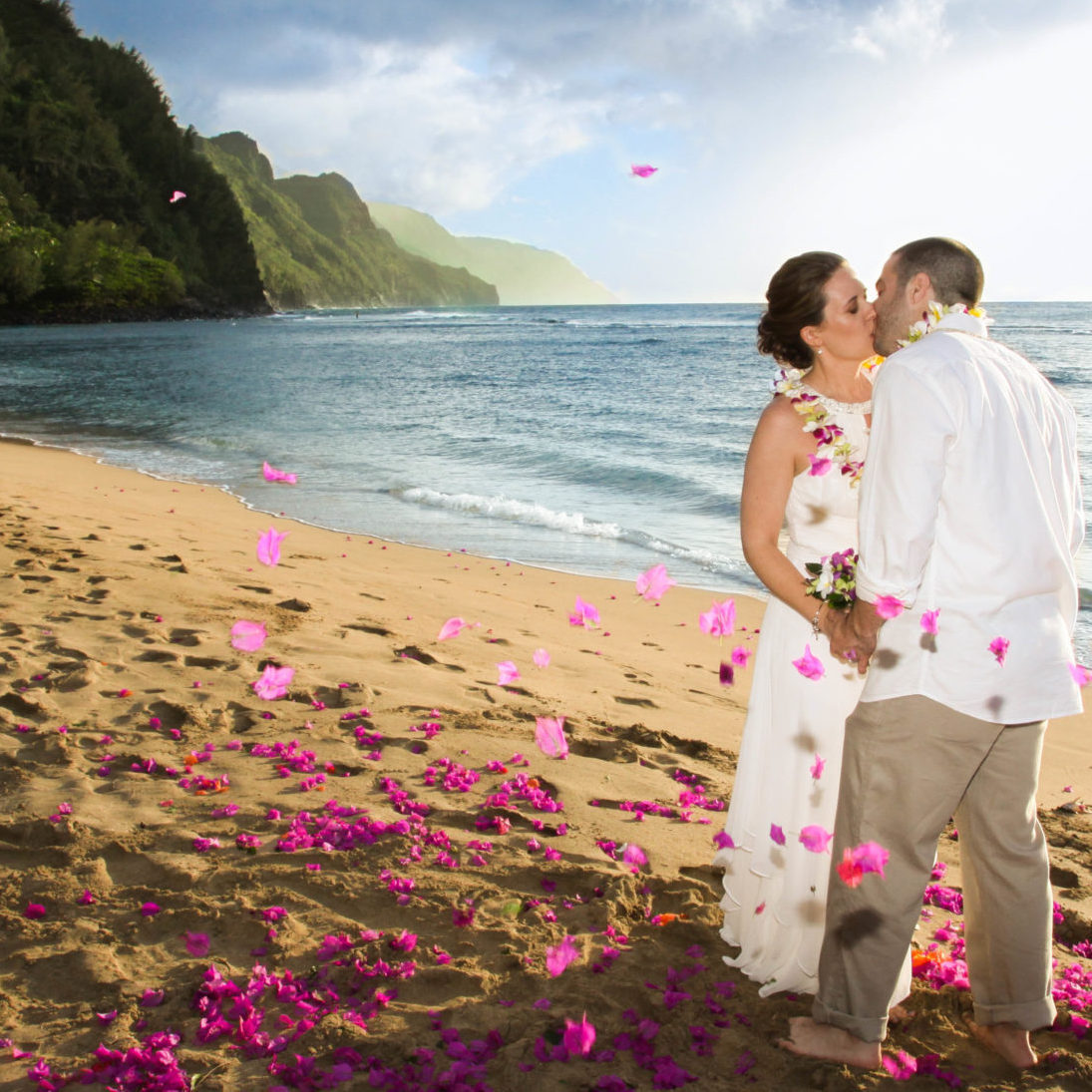 Beach Elopement Wedding on Kauai