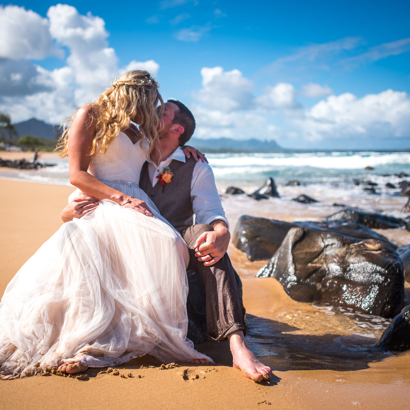 Beautiful Beach Wedding on Kauai