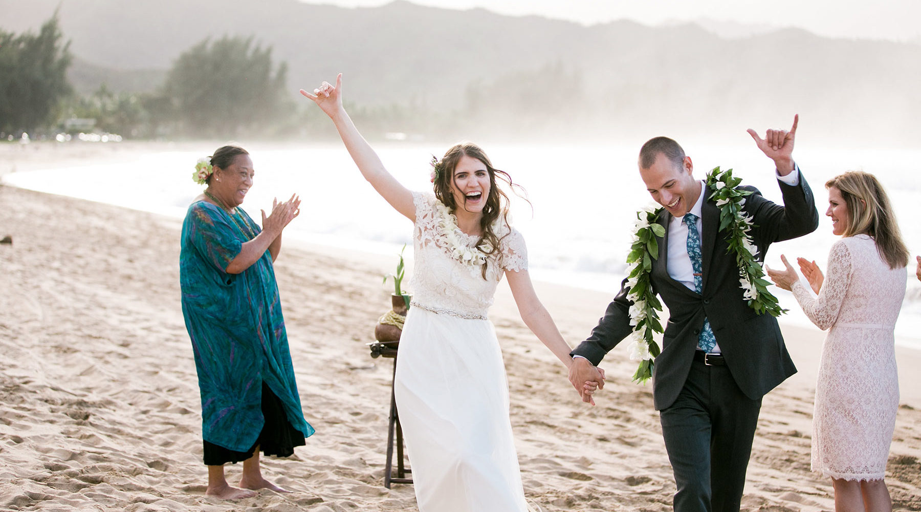 Beach Wedding Celebration on Kauai.