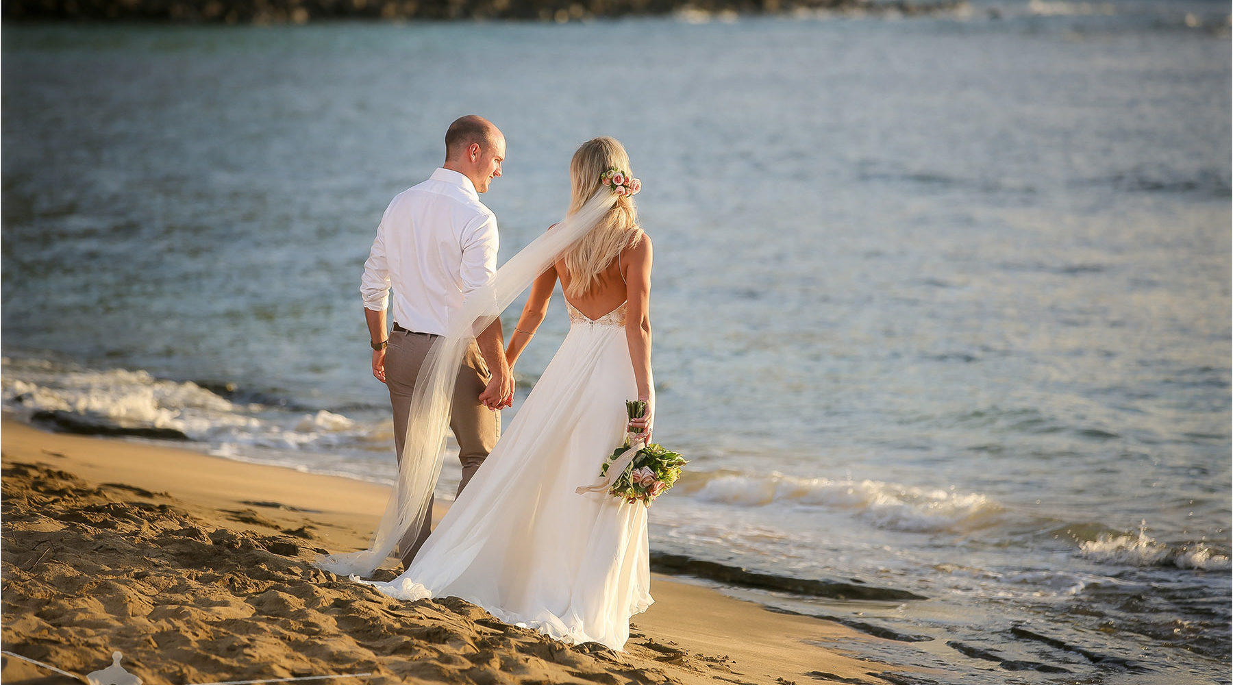 A Beach Wedding on the Island of Kauai.