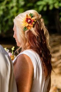Kauai Bride hair clip