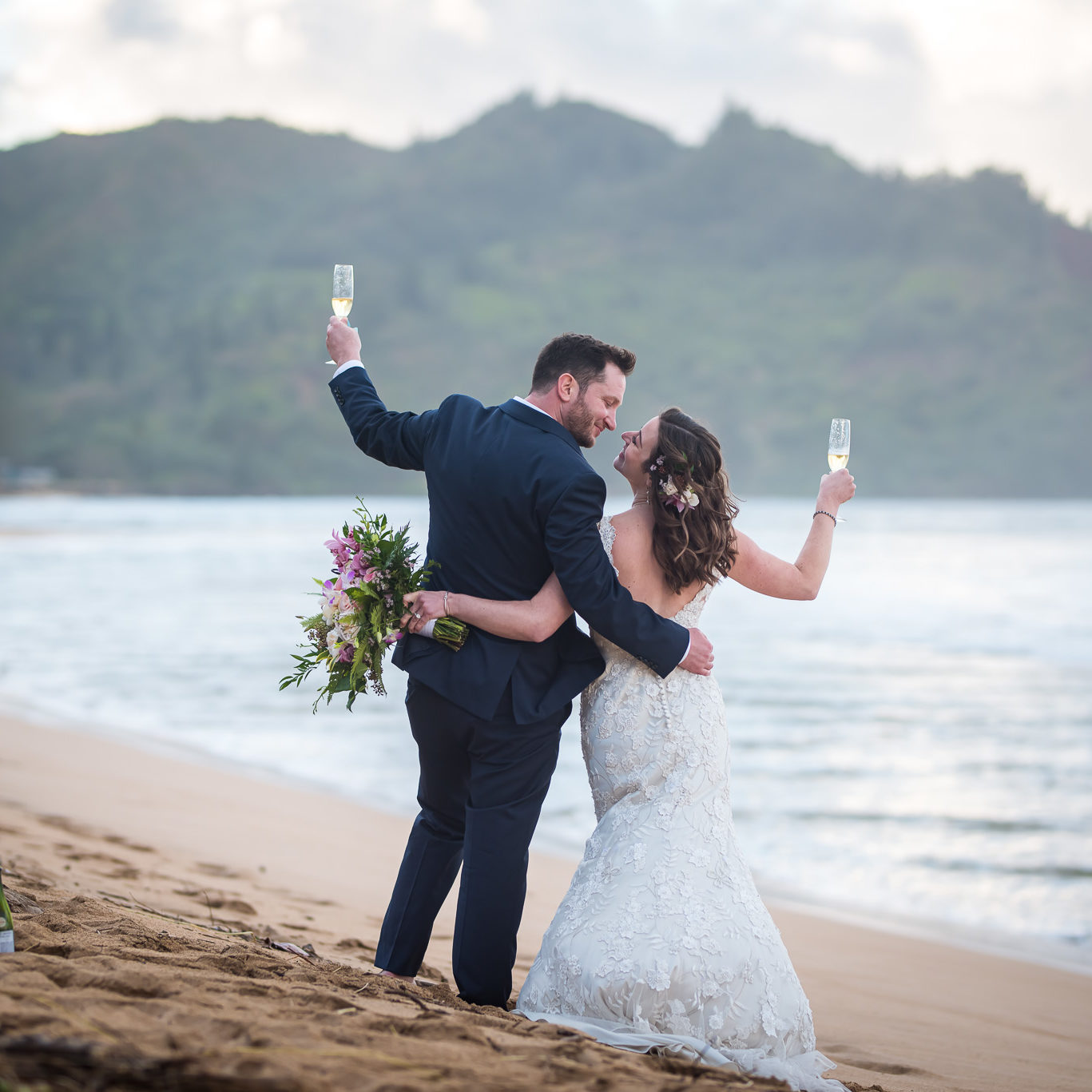 Kauai beach elopement