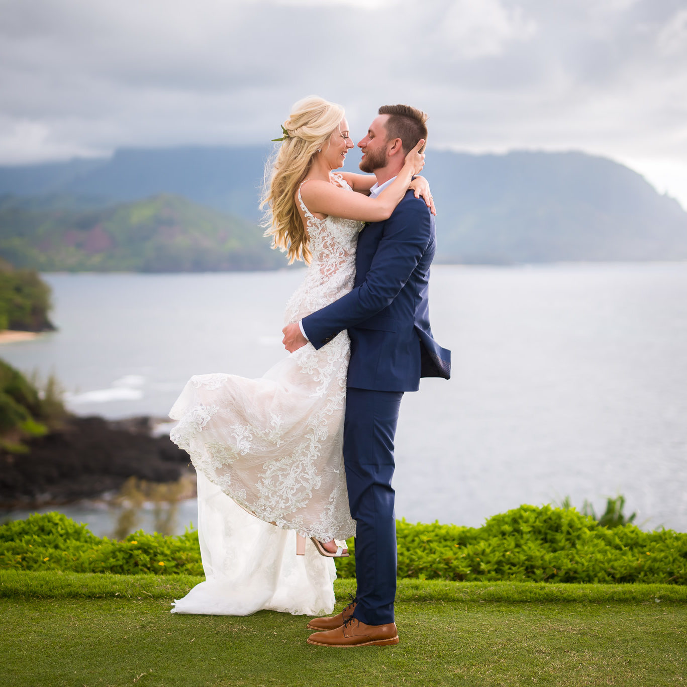 Intimate private wedding on Kauai